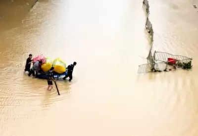 चीन में भारी बारिश से मरने वालों की संख्या 25 तक पहुंची