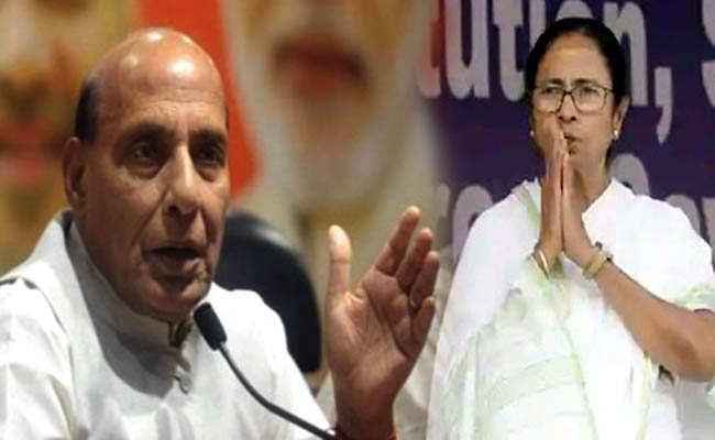 बीजेपी से रक्षामंत्री राजनाथ सिंह ने सबसे पहले ममता बनर्जी को दी जीत की बधाई