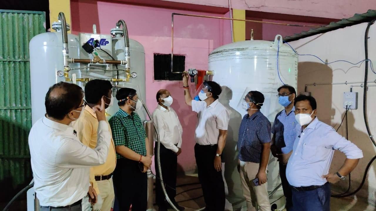 दीन दयाल अस्पताल में शुरू हुआ 600 एलपीएम का ऑक्सीजन प्लांट, 120 बेडों पर शुरू हुई निर्बाध आपूर्ति
