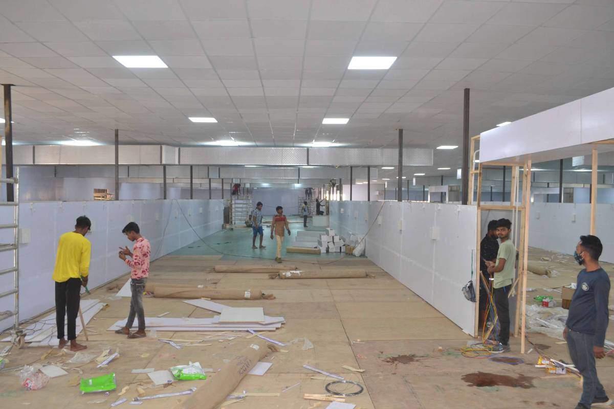 तस्वीरों के जरिये देखिए, वाराणसी में कितना बनकर तैयार हुआ 1000 बेड का कोविड अस्पताल