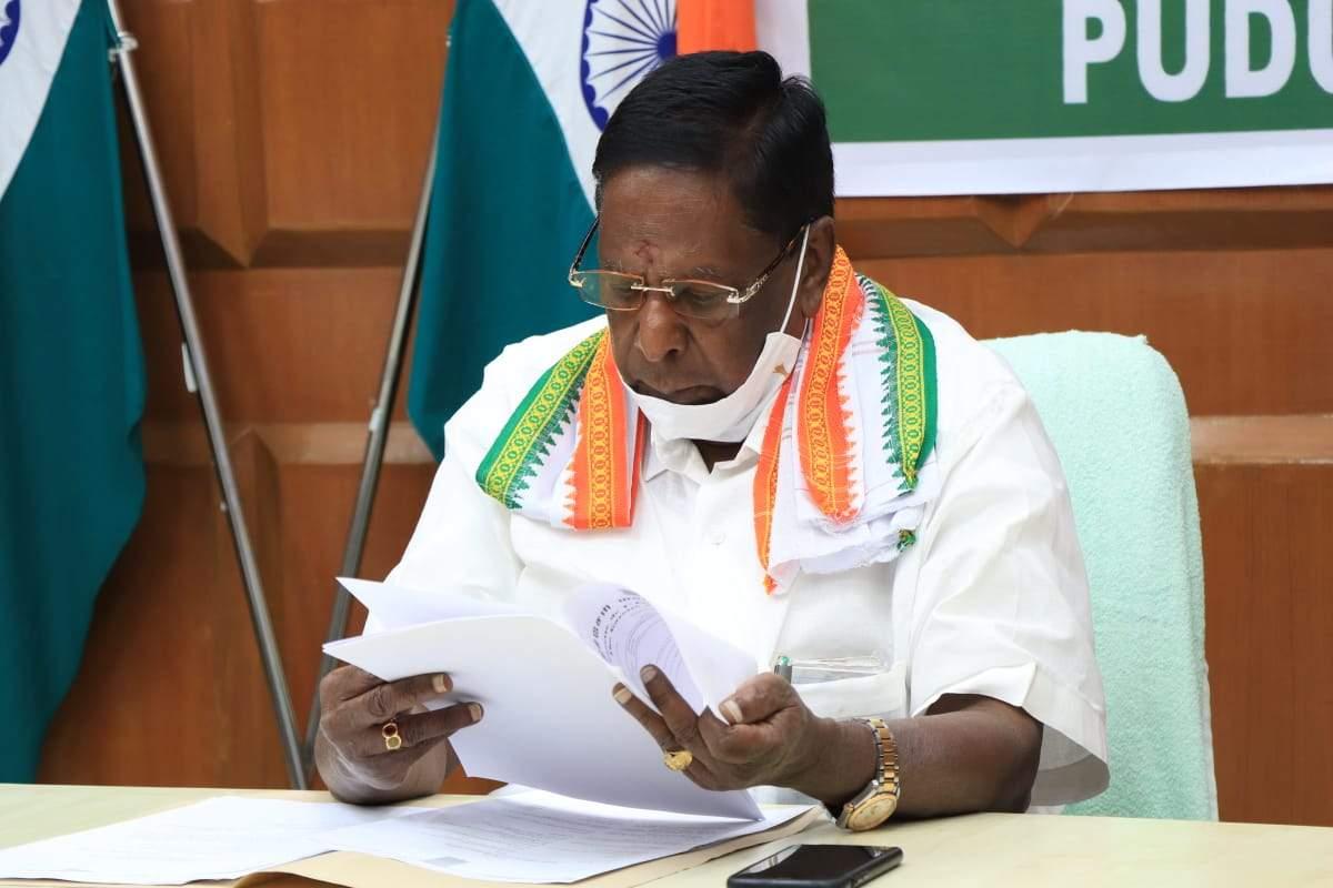 कांग्रेस के नारायणसामी ने पुडुचेरी में हार की जिम्मेदारी ली