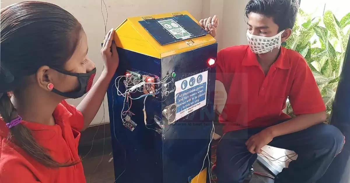 covid-19 mask killing dustbin
