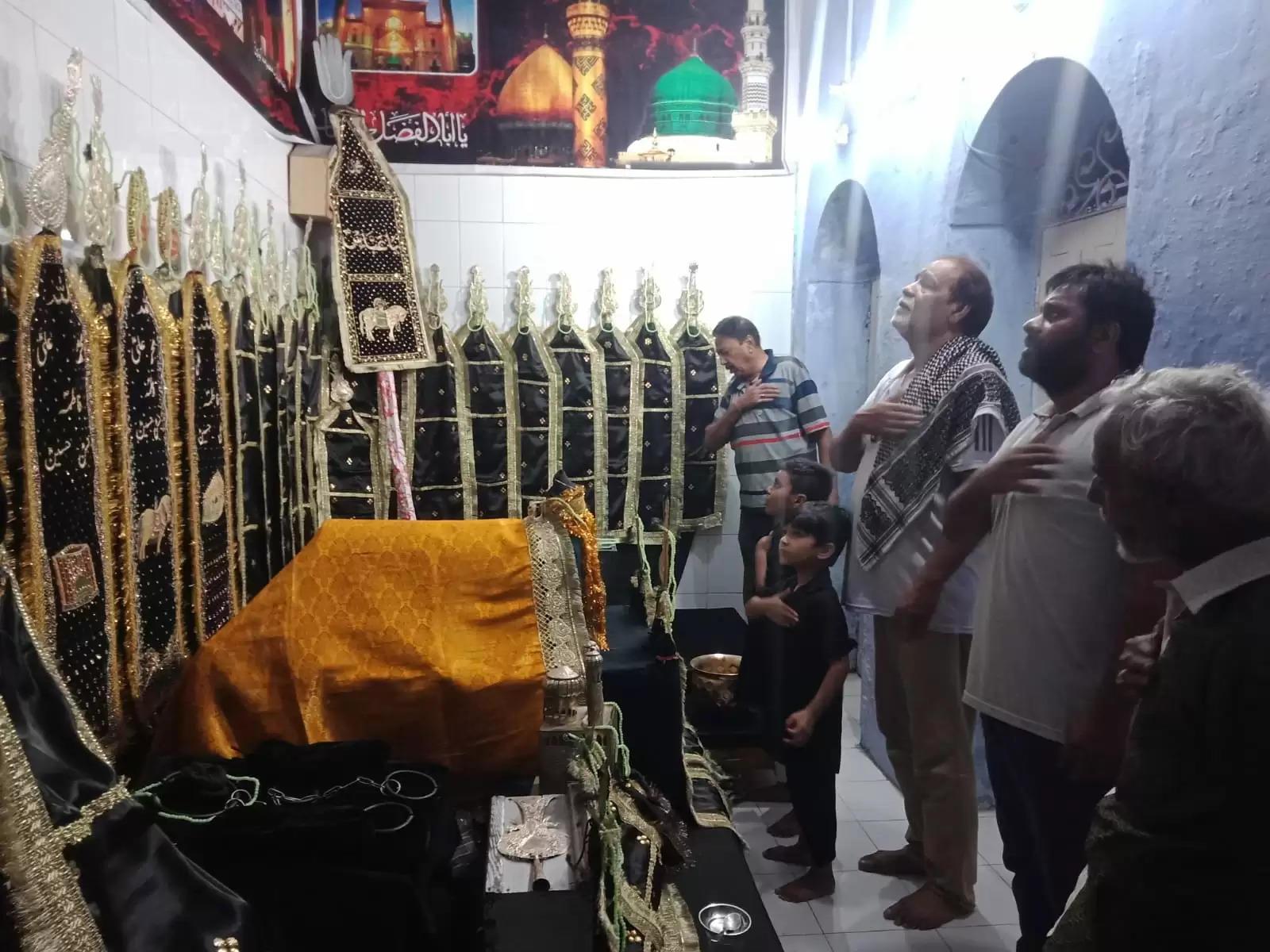गमे हुसैन की अन्तिम शाम, अलम, ताबूत और दुलदुल की हुई ज़िरायत